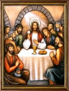 La Institución de la Eucaristía. Misterios Luminosos (jueves)