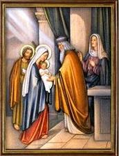 La Presentación del Niño Jesús en el Templo. Misterios Gozosos (lunes y sábado)