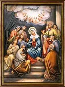 La Venida del Espíritu Santo. Misterios Gloriosos (miércoles y domingo)